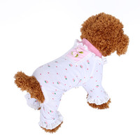 dog pajamas - Doglike Cotton Small Strawberry Dog Clothing Pajamas Chihuahua Clothes Floral Coat Pet Products Outfit Pet Clothes Dog Jumpsuit Rompers