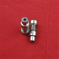 Wholesale Hottest Titanium Nails both MM and MM T domeless titanium nail for water Pipe glass bong Smoking