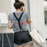 Wholesale cm Men Women Clip on Suspenders Elastic Y Shape Adjustable Braces Solids colors