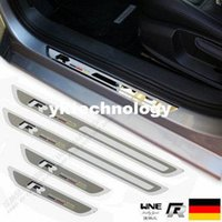 Wholesale 2010 Volkswagen VW Jetta mk6 passat b5 b6 Golf POLO R line Stainless steel slim welcome pedal door sill