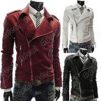 Cheap Mens Leather Jacket Best Mens Slim Coat