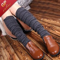 Wholesale 3090 prs Double Cylinder Wool Blend Winter Leg Warmers for Boot Cuff Socks for Boot Toppers