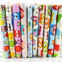 cotton - 50CM CM assorted Owl Bird printed cotton fabric textile patchwork for sewing quilting cotton shabby chic Fat quarter A3
