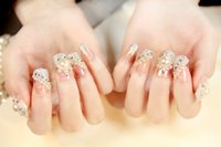 Wholesale 2015 hot sales False Art nail art Design Tips French Decorated Fake Nail kids false nails faux ongles ongle pieces