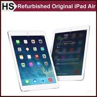 Wholesale Refurbished Original iPad Air iPad5 st Generation iOS A7 quot Apple Tablet GB GB GB WIFI Warranty Included Silve and Grey DHL