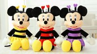 bee mouse - 2016 new style High Quality cute bee minnie mouse plush toy doll for birthday gifts cm