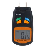 Wholesale Portable Digital LCD Moisture Meter Firewood Wood Humidity Detector Damp Tester Testing Tool order lt no track