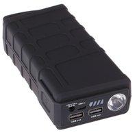 Wholesale V6 Anti shock Emergency Car Jump Starter Jumper mAh A Peak Mini Power Bank Battery Charger Dual USB Port Black Color