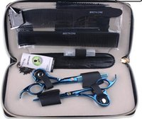 Wholesale SMITH CHU inches Professional barber scissors hairdressing scissors hair cutting tool combination packageHM87