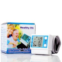 Wholesale New LCD Manufacturers Electronic sphygmomanometer wrist sphygmomanometer home blood pressure automatic blood pressure monitor