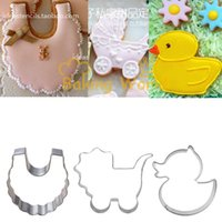 baby carriage cookie - Scarft Baby Carriage Duck Stainless Steel Cookie Cutter Fondant Sugar Craft Cake Betro Biscuit Mould Molds Metal Decorating Tool