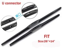 Wholesale Top quality car wiper blades for honda fit quot quot Soft Rubber WindShield Wiper blade PAIR