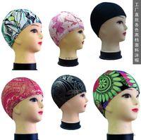Wholesale The swimming cap swimwear factory spot direct group of multicolor spend more upscale nylon cloth cap