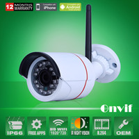 al por mayor cámaras de vigilancia al aire libre inalámbricos para el hogar-Cámara de seguridad de video de vigilancia CCTV HD 720P inalámbrico WIFI red IP cámara al aire libre Onvif H.264 IR Night Vision