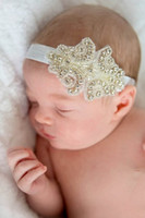 band photos - infant children girl headband with shinny jewelry kids girl headband color bands choose size Fashion headbands take the photo