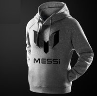 Men barcelona fashion - Messi men hoodie football hoody Argentina print Barcelona Messi LOGO hooded Sweatshirts jacket for men and women soccer ZJ1062