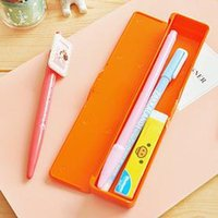 apple shopping bag - Japan south Korean style stationery Apple candy color pencil case receive a box pencil case pen bag free shopping