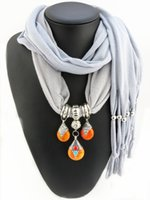 beeswax beads - 2016 New arrival pendants scarves tibetan beeswax beads scarves for women polyester plain scarves cmx40cm