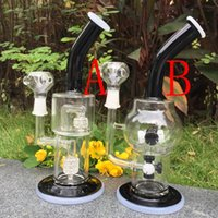 art hours - BONG Hour Glass bong Recycler water pipe High quality Oil Rigs Hybrid Two function Hand make glass art built in claim catchers