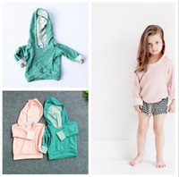 Wholesale 2015 Autumn children pullovers hooded Outwear Boys Girls Hoodies Sweatshirts kids Baby long sleeve cotton sweatshirts tops clothes for T