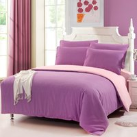 Wholesale Luxury Bedding Set Stylish Sanding Solid Color Comforter Bedclothes Suit Queen Size Duvet Cover Bed Sheet Pillowcases H15763