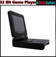 Wholesale New GBASP Bit Game Player inch Flip Backlit Screen Handheld Video game player AV USB Rechargeable For Christams Xmas Kid Best Gifts