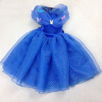 kids dress - DHL Newest Cinderella Dress girls dresses Cosplay Costume Cinderella Movie Dress kids clothing kids dresses S176