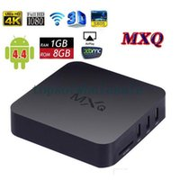 Wholesale 15PCS Android Kitkat TV Box MXQ MX K Amlogic S805 Quad Core WiFi XBMC Kodi Fully Loaded G G LAN Airplay Miracast D Smart Google IPTV