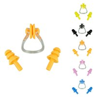 Wholesale Newly Design Waterproof Pratical Soft Silicone Swimming Nose Clip Swim Ear Plug Set with Package