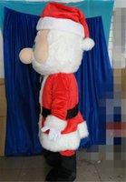 Wholesale Cartoon Santa Claus Mascot Costume White Beard Grandpa Mascot Party Dress Christmas New Year Costumes