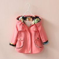 coat - Girl Solid Color Fashion Wind Coatc Colors Sizes Y New Children Coat Outwear Jackets Long Sleeve