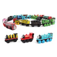Wholesale Colorful baby toy Wooden Train Car Toys Magnetic Wooden Train Toys Kids Educational Wooden Toys Styles