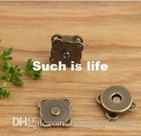 Wholesale 200pcs D14mm Bronze plum blossom magnet button for bags magnetics buttons Clasp Metal button fastener clothes sewing Tool