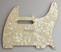Wholesale For US screw standard Tele Pickguard Ply Ivory White Pearl CL004