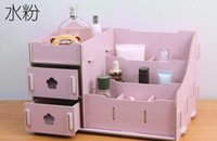 Wholesale Free ship DIY wooden boxes of cosmetics store content drawer cartridges