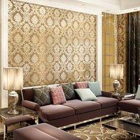 Wholesale Brown wall paper flower vintage Floral wallpaper roll for home Flower wallpapers PVC waterproof