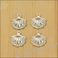 Wholesale Fashion Charm Shell Bright Silver pendant fits Bracelet necklace alloy jewelry accessories Findings mm JC