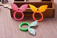 Wholesale Korean Children Hair Rubber Bands Colorful Rabbit Hair Rubber Bands Hot Sale Children Hair Jewelry