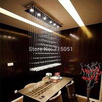 Cheap 100CM Modern LED Cystal Ball Hanging Wire Square Pendant Light Fixture Rain Drop Curtain Chandelier Ceiling Lamp Lighting