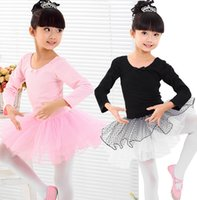 Cheap Ballet Dresses Invisible Fastening Safety Short Latin Dancing Dresses 100% Cotton Top Dancing Dresses Dotted TUTU Skirts 12pc lot Dancewears