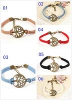 achat en gros de arbre de souhaits bracelet-300pcs Livraison gratuite! Bracelet nouvel arbre de souhait, pendentif argent antique arbre souhaitent - Bracelet en cuir - Meilleur cadeau choisi, arbre de vie