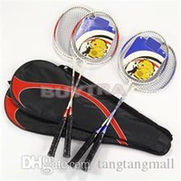 Wholesale 2014 New Top Quality Durable Pair Speed high strength Badminton Racket Light weight Aluminium Alloy Racquet with Carry Bag A5 A5
