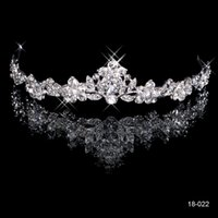 Cheap NEW Bridal Tiaras Headbands Bling Silver Crystal Rhinestone Princess Crown Wedding Crowns Queen Bride Hair Accessories Die Krone Semicircle