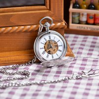 classical pocket watch - New Classical Pattern Pocket Watch Flower Pendant Women Luxury Gift Vine Roman Number Mechanical Steampunk Pocket Watch