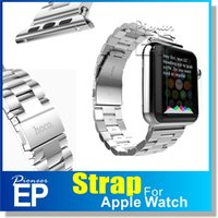 stainless steel buckle - for Apple Watch HOCO Stainless Steel Watch Band Strap with Adapter bracelet Watchband Strap Classic Buckle mm mm Watch retaillbox