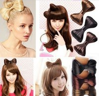 aqua extensions - HOT Korean Hair Comb Bow Clip Extension Hairpiece Synthetic Hair ponytail Holder