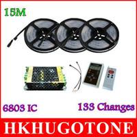 15M led lights 5050 RGB Dream Color Magic 6803IC lumières de Noël LED Strip 133 Change RF Remote et 12V10A 120W Power led light
