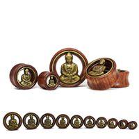 Wholesale piercing body jewelry rose wood ear gauges plug tunnels size mm