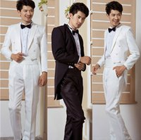 best perform - Men tuxedo suits host magician performing a marriage ceremony costume ceremony to celebrate the best man suit swallowtail suit