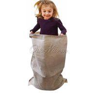 Wholesale Vintage Burlap Potato Sack Race Bags Sandbags Carnival Games Sacks